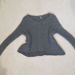 Free people knit sweater top grey